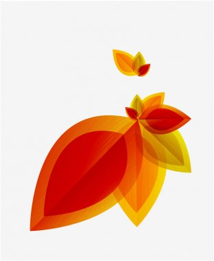 Vector abstract autumn leaf background