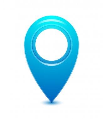Vector location pointer icon