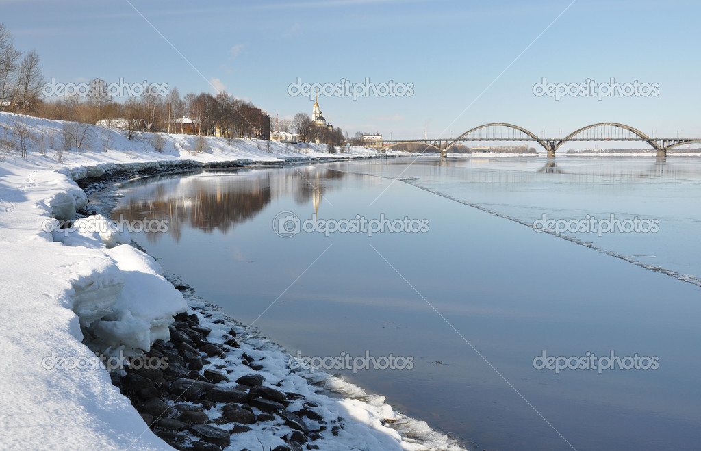 View of the bridge in Rybinsk.