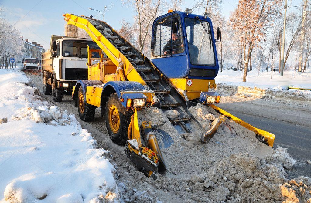 Mechanized snow removal.