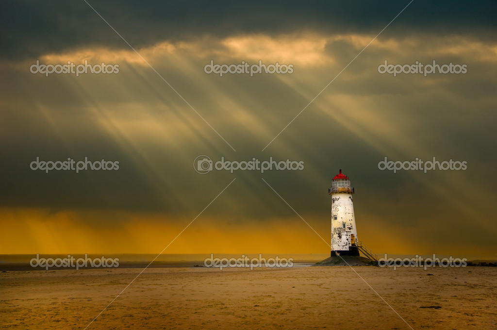 Talacre lighthouse after the storm