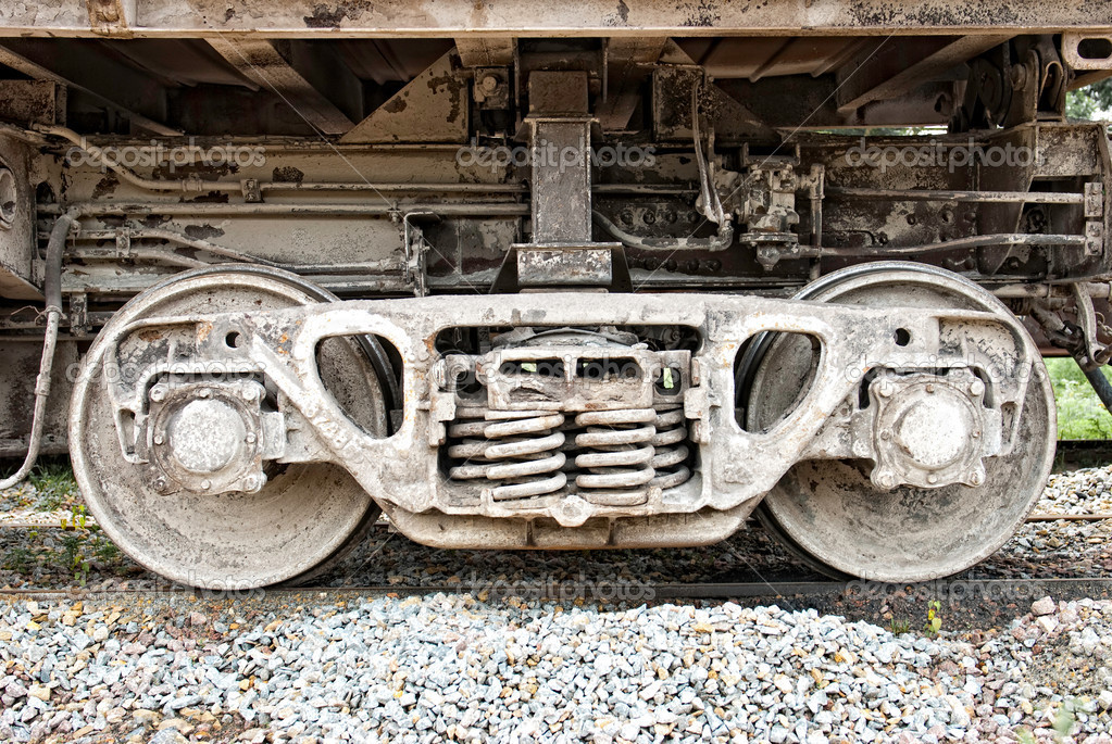 Wheel axle from the wagon — Stock Photo © JANIFEST #5996365