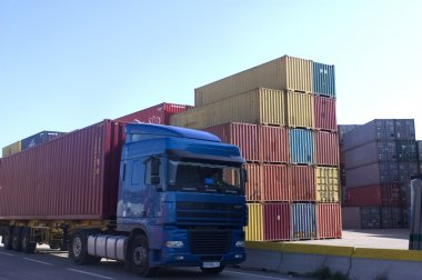 Container on the port