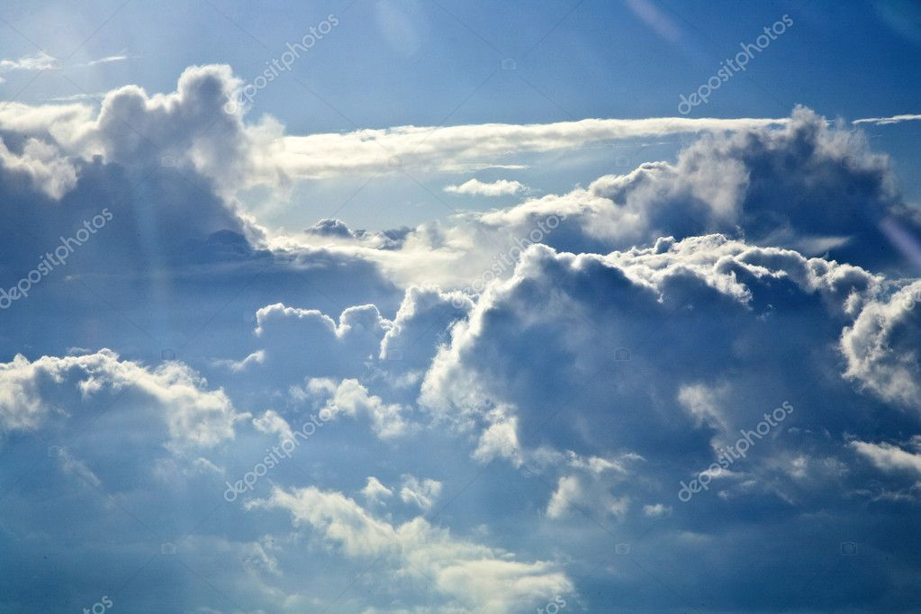 Sky with clouds from above
