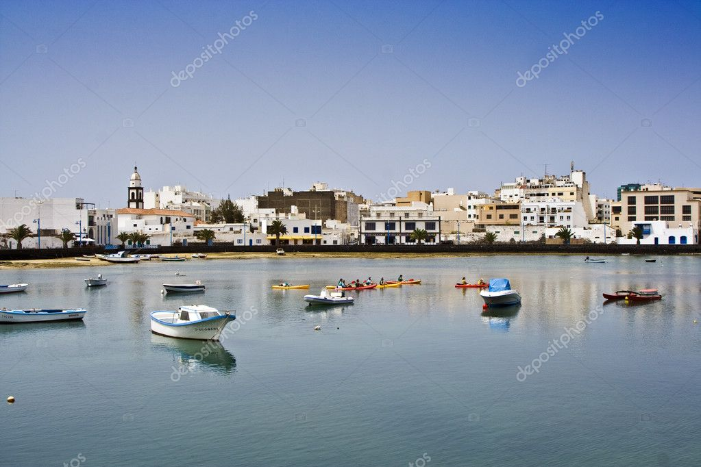 Laguna at the city of Arrecife