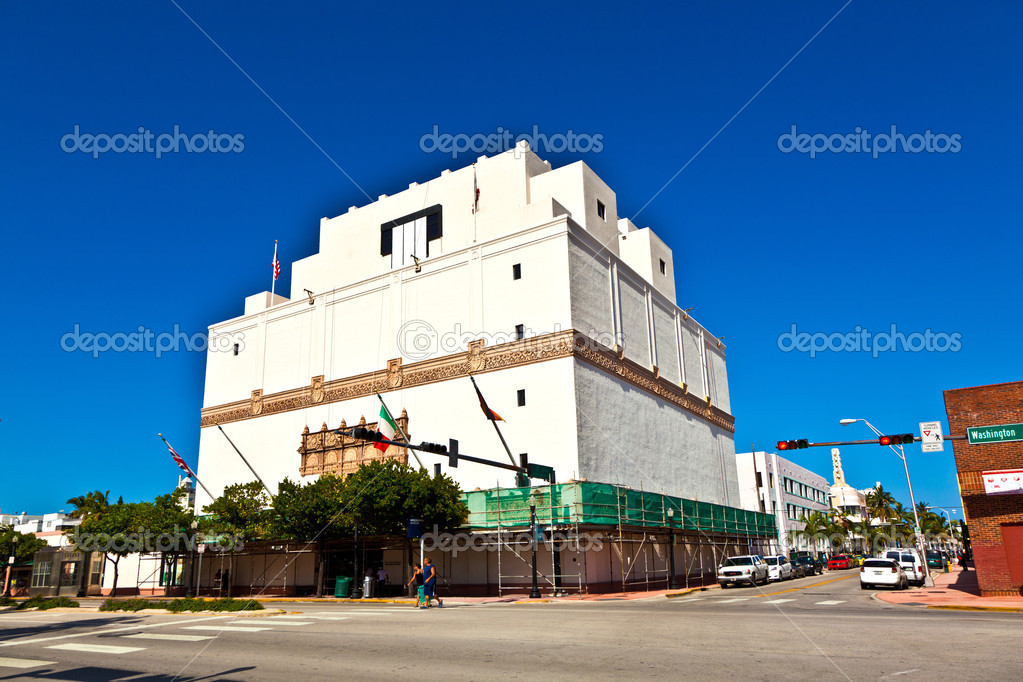 Famous Art Deco architecture in South Miami at Washington road