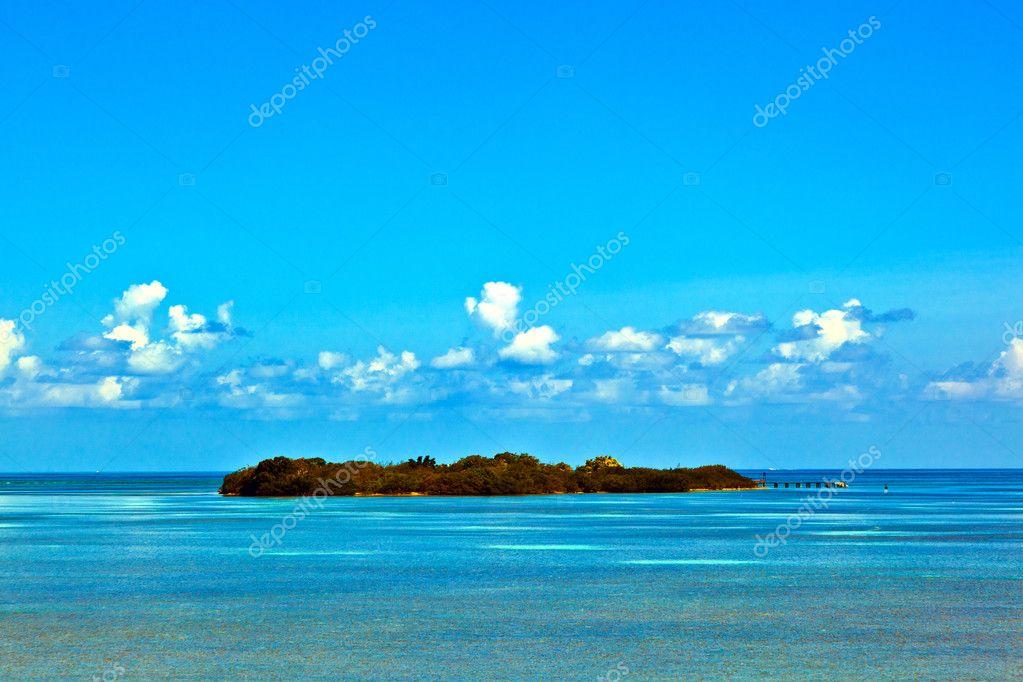 Beautiful island in the Florida keys