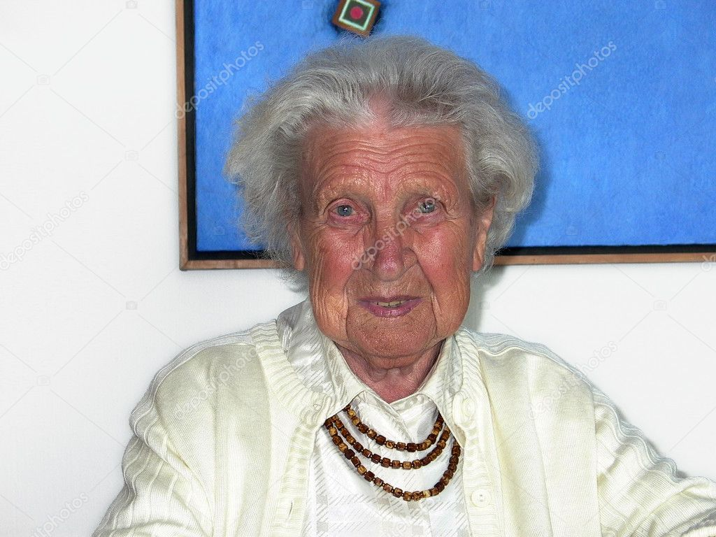 Happy smiling great grandmother