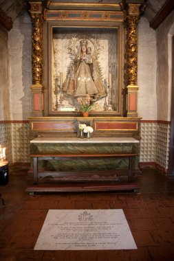 Inside the monastery of Carmel Mission in Monterrey