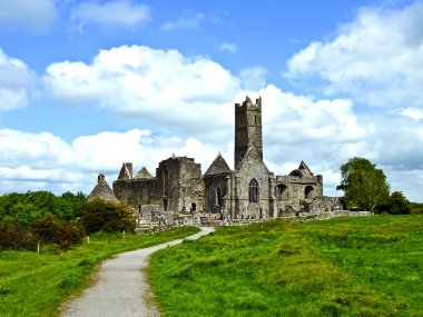 Famous Quin Abbey in Ireland