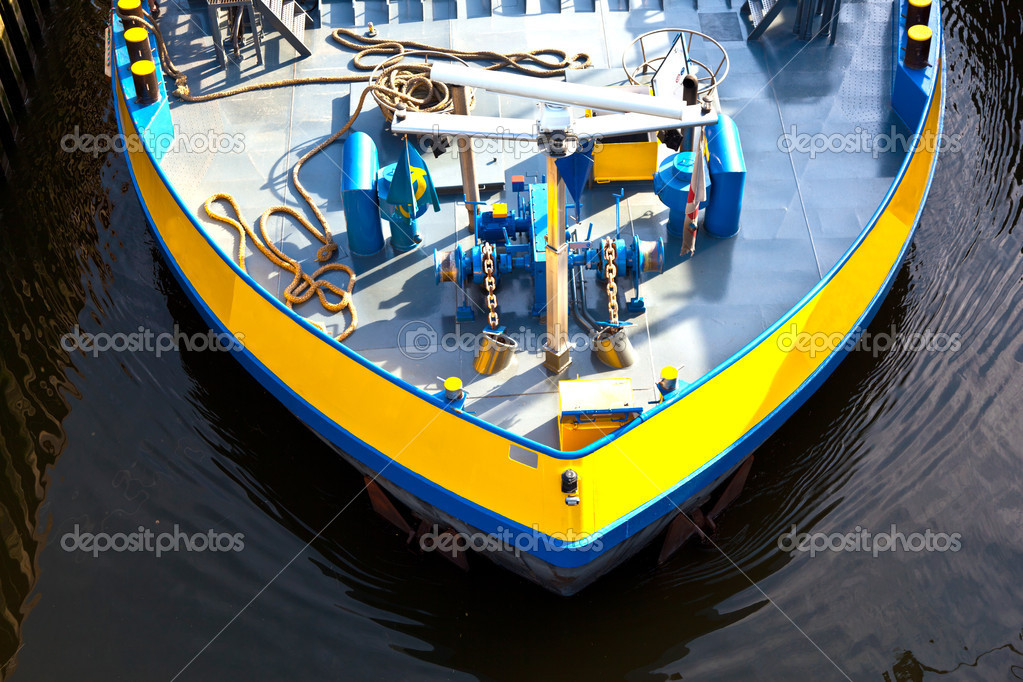 Detail of boat for inland water transportation