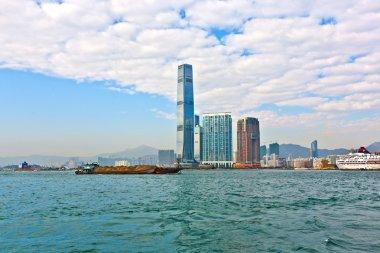 Cloudy waterfront in Hong Kong