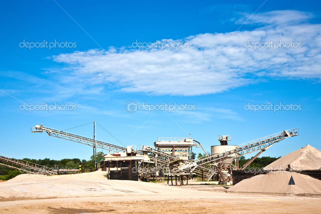 Conveyor on site at gravel pit