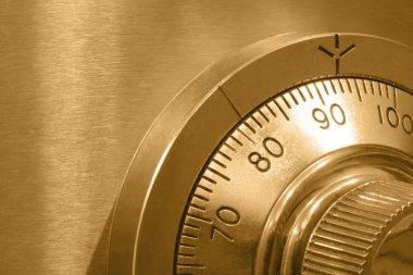 Safe Lock in Gold