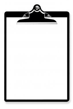 Blank Paper on Clipboard