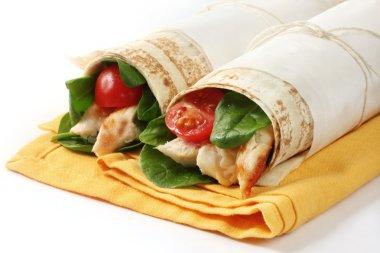 Chicken Wrap Sandwiches