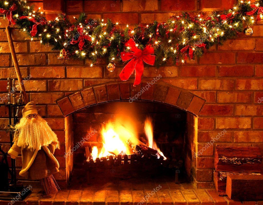 weihnachten kamin stockfoto robynmac 5525804. Black Bedroom Furniture Sets. Home Design Ideas