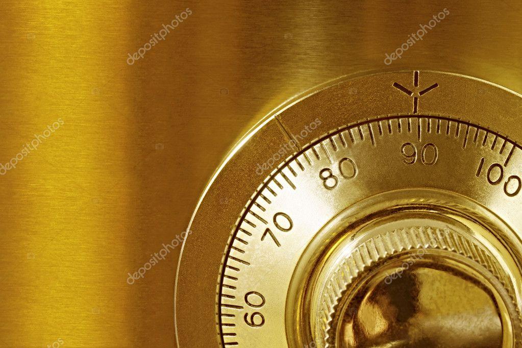 Golden Safe Lock