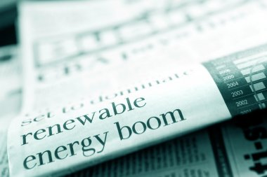 Renewable Energy Newspaper Headline