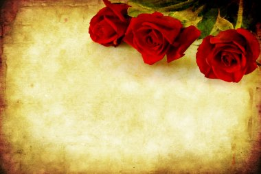 Grunge Red Roses