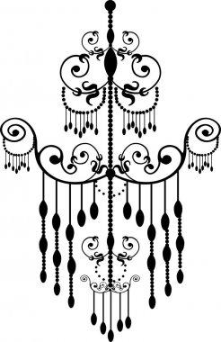 Black color chandelier design