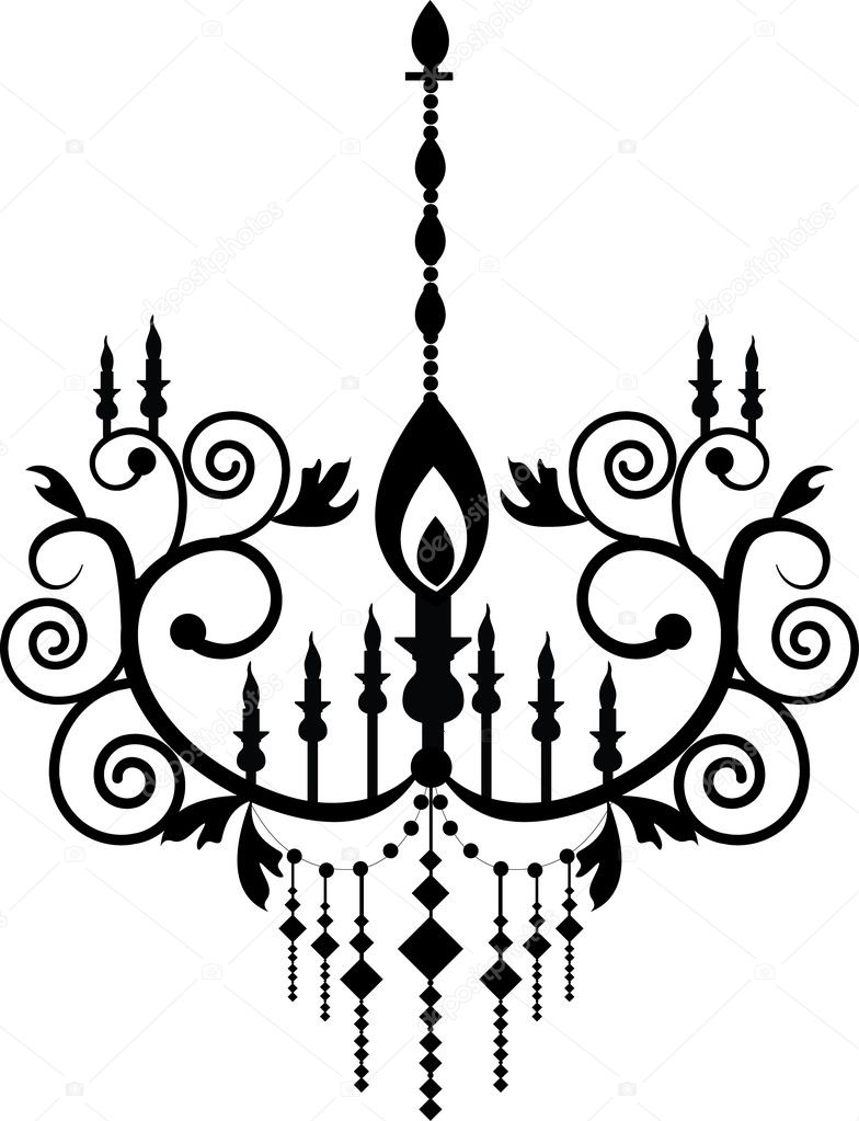 Black chandelier graphic pattern stock vector alkkdsg 5491342 black chandelier graphic pattern stock vector aloadofball Image collections