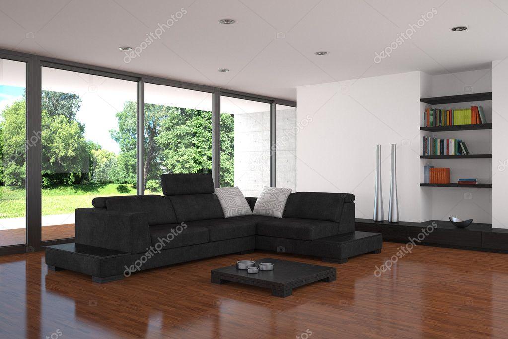 Wohnzimmer Mit Parkettboden ? Stockfoto #5487867 Wohnzimmer Modern Parkett