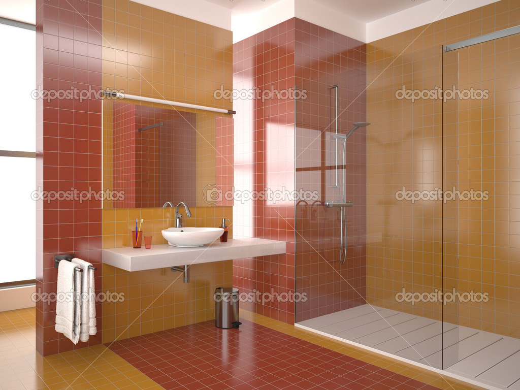 bagno moderno rosso ? foto stock © anhoog #5487878 - Bagni Moderni Rossi