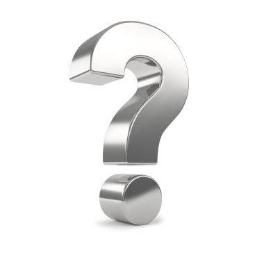 Silver 3d question mark