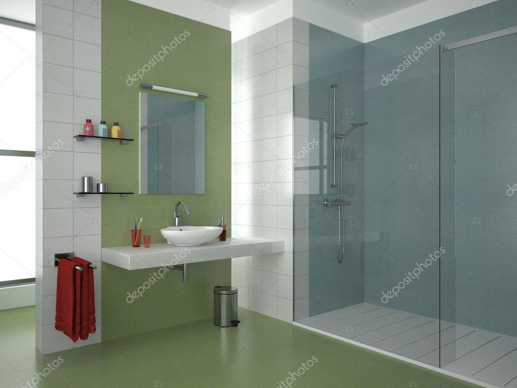 Badezimmer grün — Stockfoto © anhoog #5779211