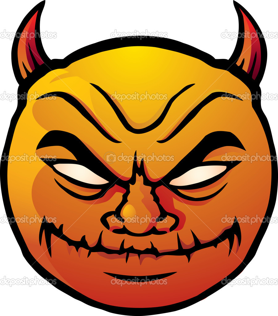 Böser Smiley - Vektorgrafik: lizenzfreie Grafiken