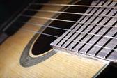 Klasická akustická kytara, close-up