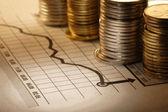 Fotografie peníze a graf