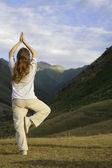 Fotografie praktikování jógy