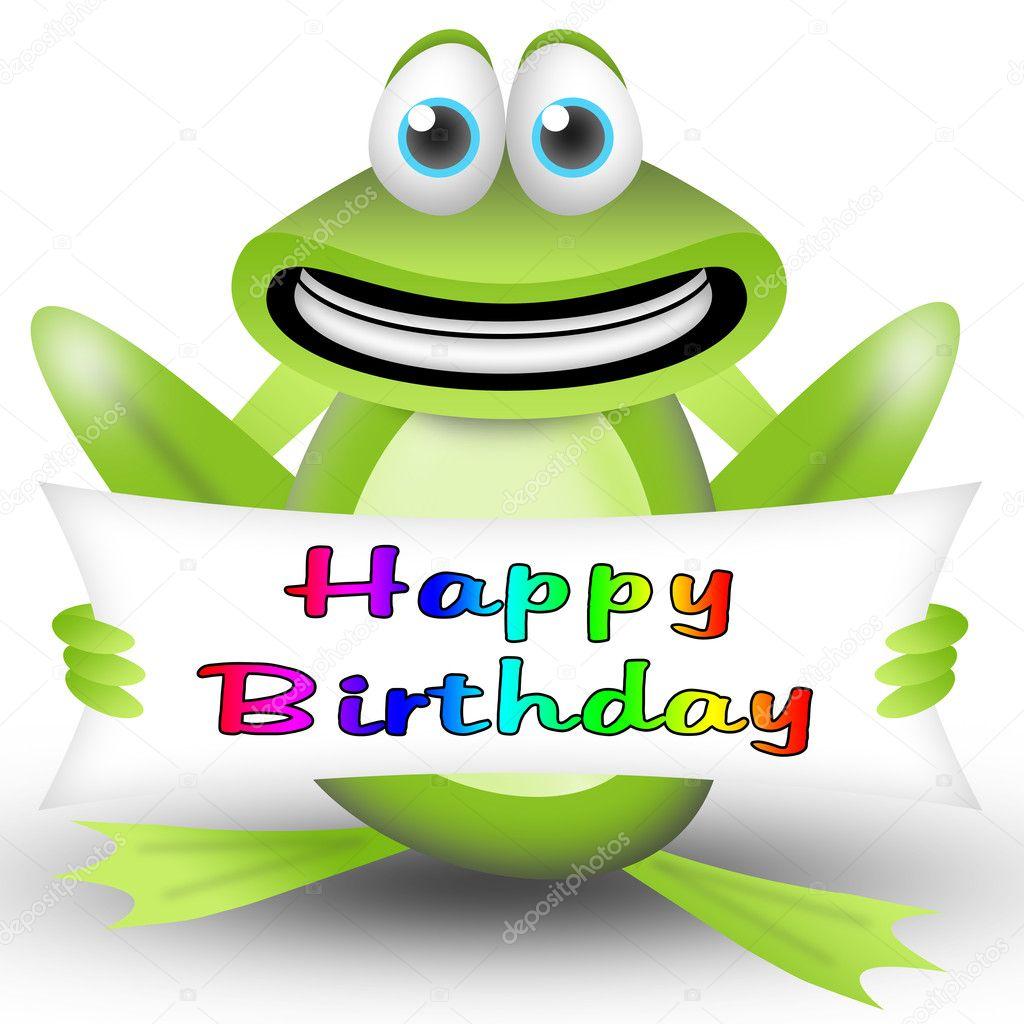 Kikker Gelukkige Verjaardag Stockfoto C Walex101 5572103