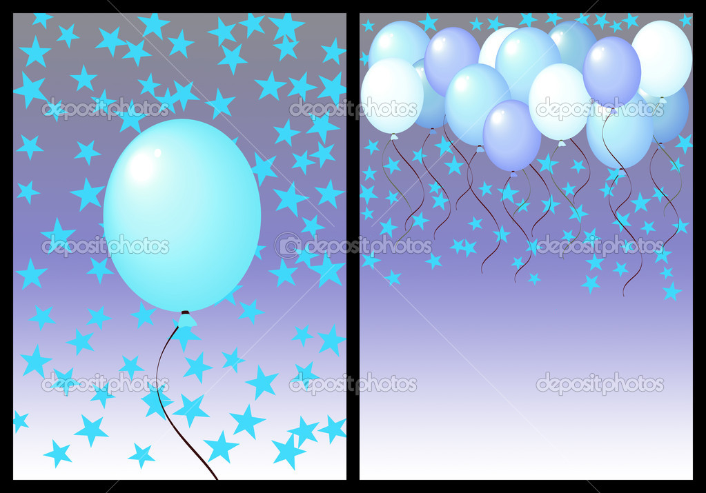 Happy birthday greeting card front and back. male