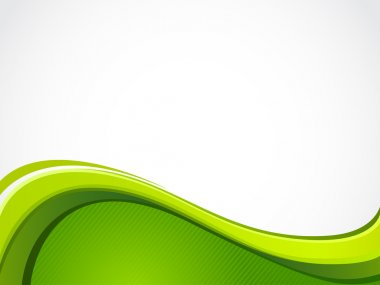 Vector abstract background with green wave. stock vector