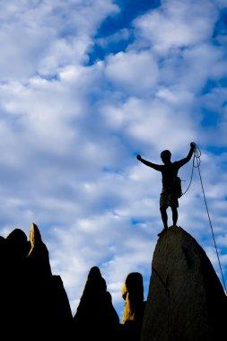 Climber on the summit.