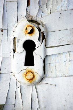 Old keyhole.
