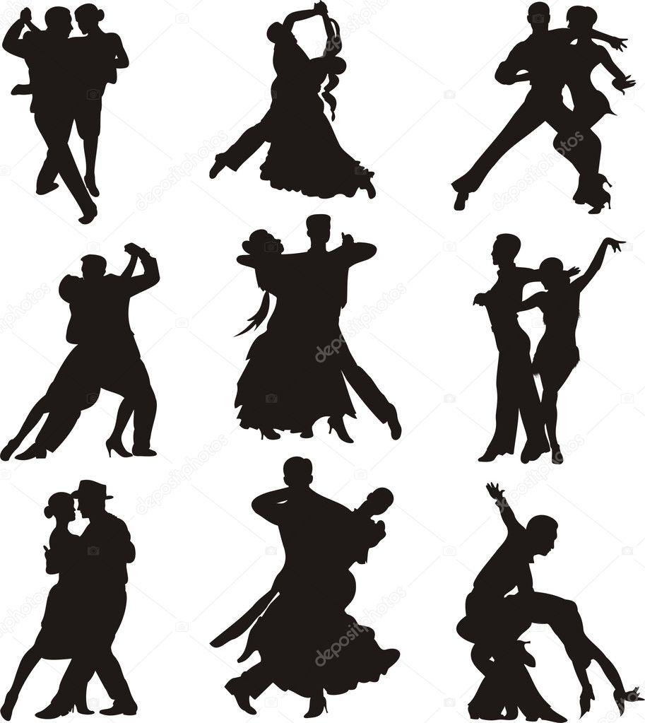 ダンス シルエット ストックベクター Ciuciumama 5647166