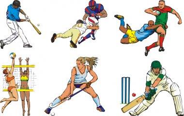 Team sports figures - outdoor