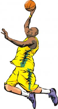 Basketball - slam dunk