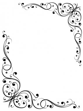 Vector abstract floral grunge frame pattern clip art vector