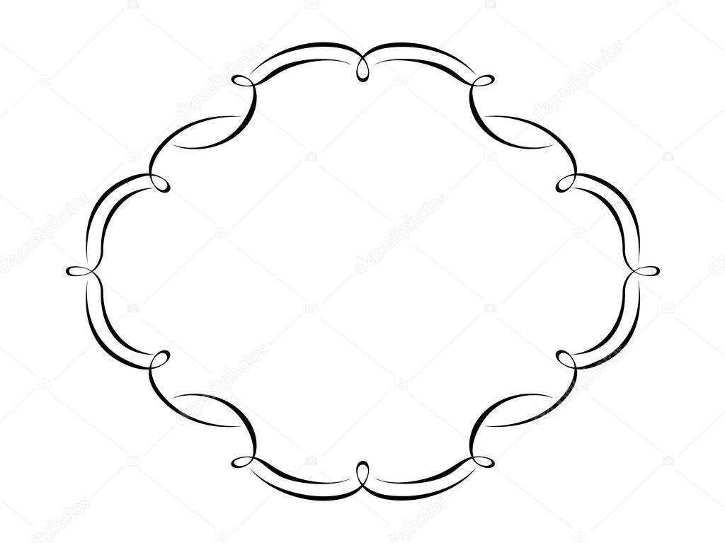 marco decorativo ornamental de caligrafía — Archivo Imágenes ...