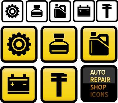 Auto Repair Shop Icons.