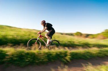 Man extreme biking