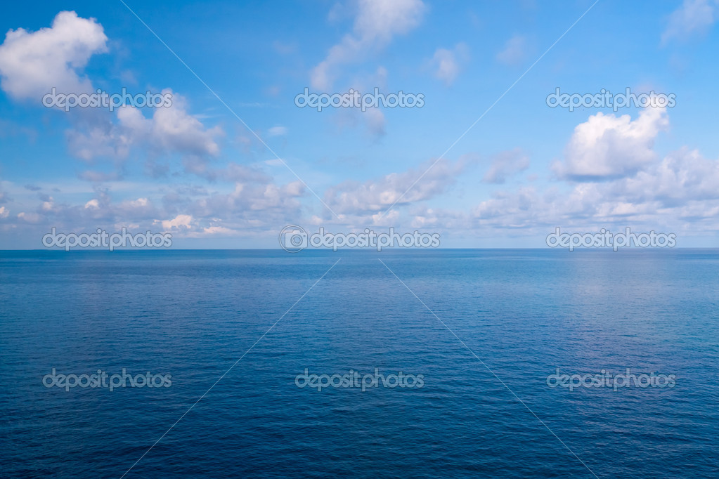 Beautiful sea view and blue sky in Thailand