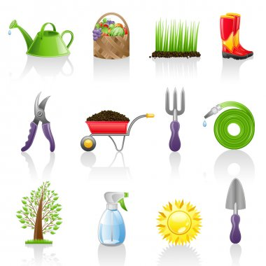 Garden icon set