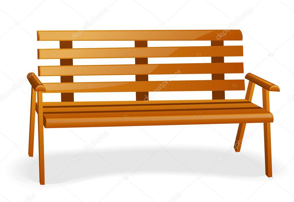 park bench stock vector filata nata 5988981 rh depositphotos com Park Trees Park Table Clip Art