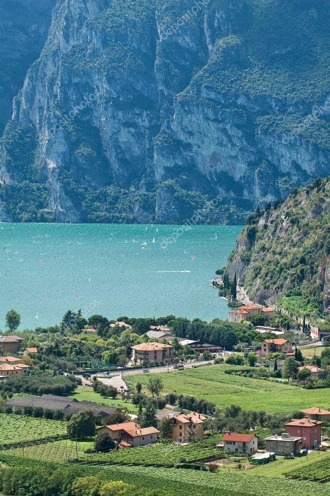 View from Nago village on lake Garda, Italy